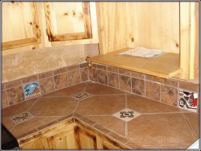 Ceramic for Ceramic tile kitchen countertops designs